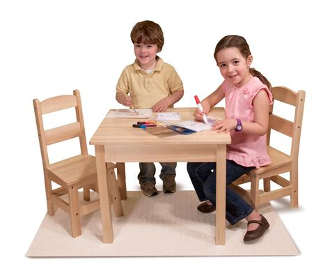 doug solid wood table and 2 chairs