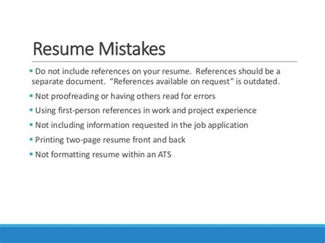 erau webinar resume writing