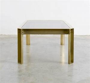 solid brass coffee table of the 1970s for sale at 1stdibs With solid brass coffee table