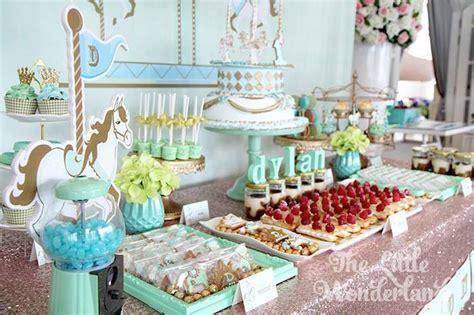 kara 39 s party ideas royal carousel themed 1st birthday