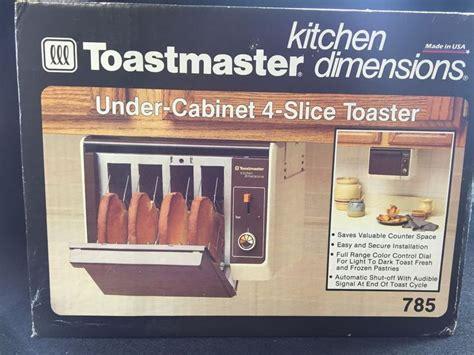 under cabinet 4 slice toaster toastmaster 4 slice toaster toaster usa and cabinets