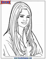 Coloring Pages Selena Gomez Printable Drawing Cartoon Singer Famous Colouring Onlycoloringpages Template Sheets Popular Adults Getdrawings Coloringhome sketch template