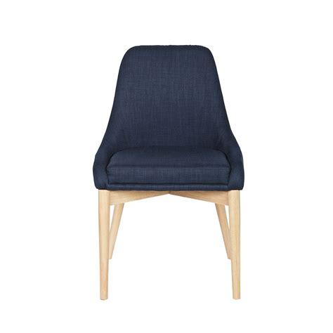 chaise bois et tissu chaise design tissu et bois avec coussin by drawer