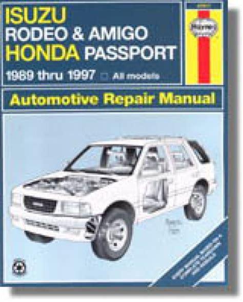 online service manuals 2000 isuzu amigo transmission control haynes isuzu rodeo amigo honda passport 1989 2002 auto repair manual 1