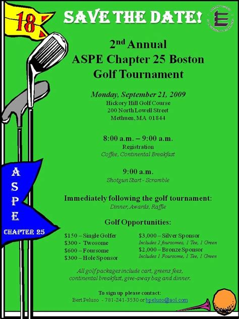 examples of golf tournament flyers Read the Flyer for