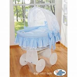 Berceau Bebe Blanc : berceau b b osier glamour bleu blanc berceaux osier ~ Teatrodelosmanantiales.com Idées de Décoration