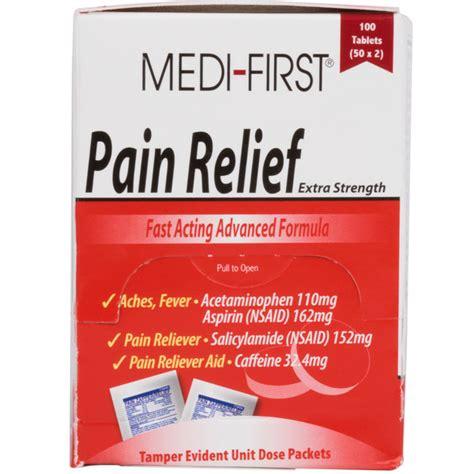 Medi-First Extra-Strength Pain Relief Tablets / Pain ...