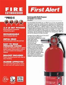 First Alert Pr02 5 Users Manual Spec Sheet Pro2