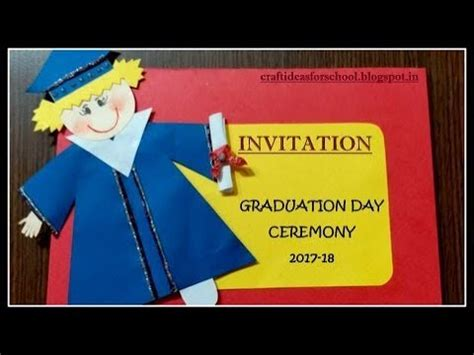 graduation day invitation card for kindergarten 463 | hqdefault