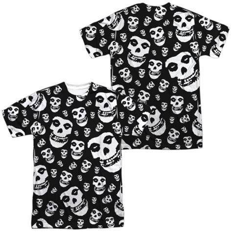 Official The Misfits Punk Band Fiend Skulls Allover 2 side ...
