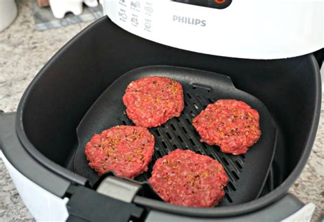 fryer air burgers grill patties burger mini plate basket cheese step place philips