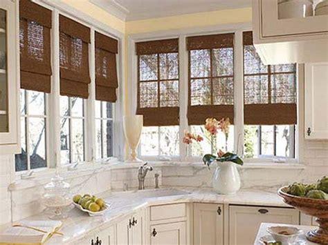 Bloombety  Window Treatment Ideas For Kitchen Bay Window