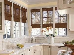 bloombety window treatment ideas for kitchen bay window With kitchen bay window coverings