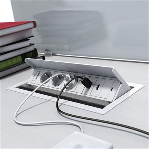 prise de bureau mbox 4 stopcontacten schuko box inbowblokje voor tafel
