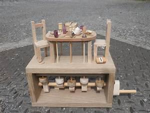 Breakfast Table wooden Automata - by Wanda Sowry
