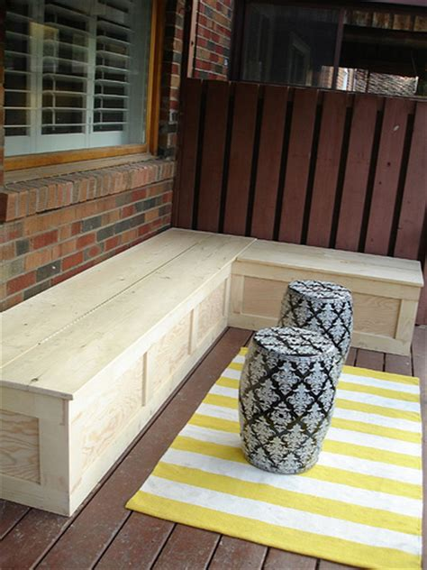l shaped storage bench 17 awesome diy outdoor bench ideas