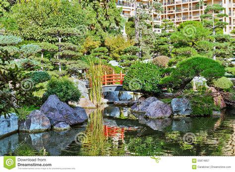 Japanischer Garten Monte Carlo by Japanischer Garten In Monte Carlo Stockbild Bild