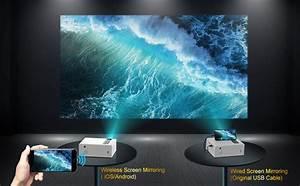 Amazon Com  Projector  Yaber Y61 Wifi Mini Projector 5500