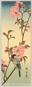 Utagawa Hiroshige: Bird and Cherry Blossoms - Artelino ...