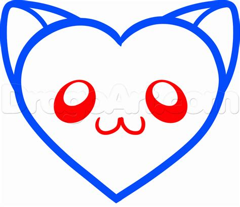 draw  cat heart step  step pets animals