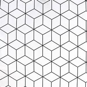 Papier Peint Motif Geometrique : tissu d 39 ameublement motif g om trique noir et blanc ~ Dailycaller-alerts.com Idées de Décoration