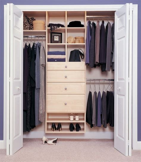 Closet Organization Project Ideas by Basic Reach In Closet Simple Yet Truly Organized And