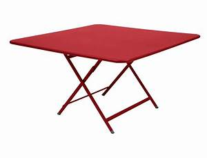 table caractere de fermob piment With table de jardin fermob soldes