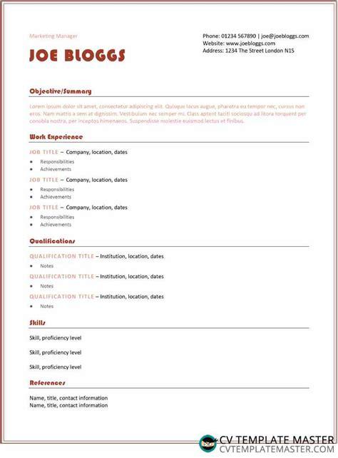 Just choose one of 18+ resume templates below, add. Retro orange CV/résumé template - CV Template Master