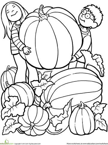printable fall coloring pages 928 | 550 color pumpkin pickers