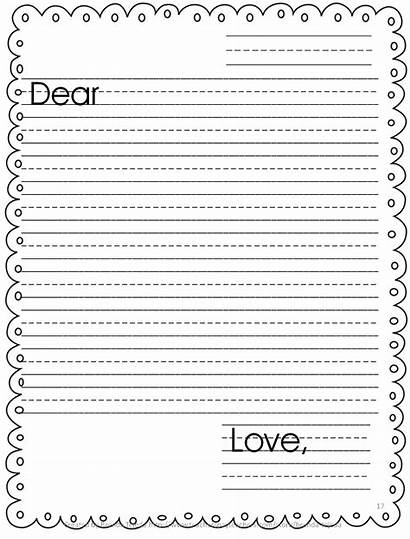 Letter Writing Template Grade Paper Clipart Easy