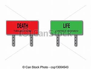 Drawing of Life and Death Sign Concept csp13004543 ...