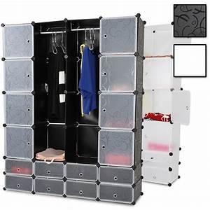 Armoire En Tissu Pas Cher : rangement armoire penderie plastique modulable achat ~ Teatrodelosmanantiales.com Idées de Décoration