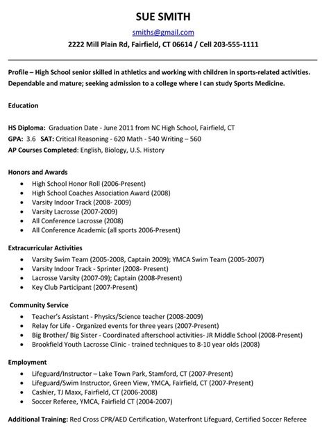 ideas  high school resume  pinterest