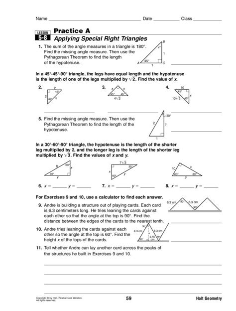 Special Right Triangles 30 60 90 Worksheet Answers Worksheets Tutsstar Thousands Of Printable