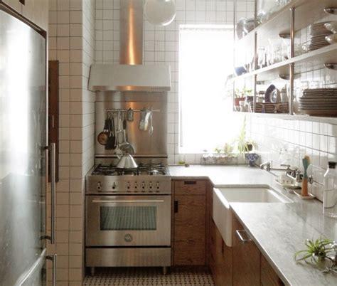 small  york city apartment kitchen   light