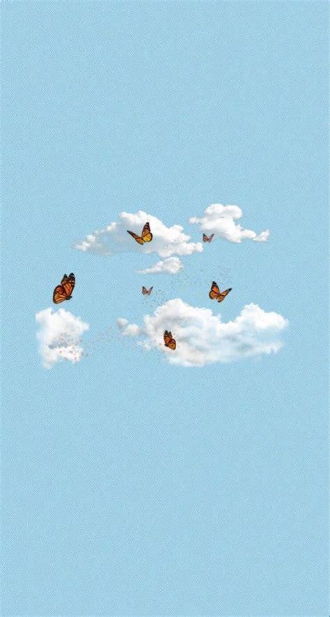 elisem519 butterfly wallpaper iphone blue