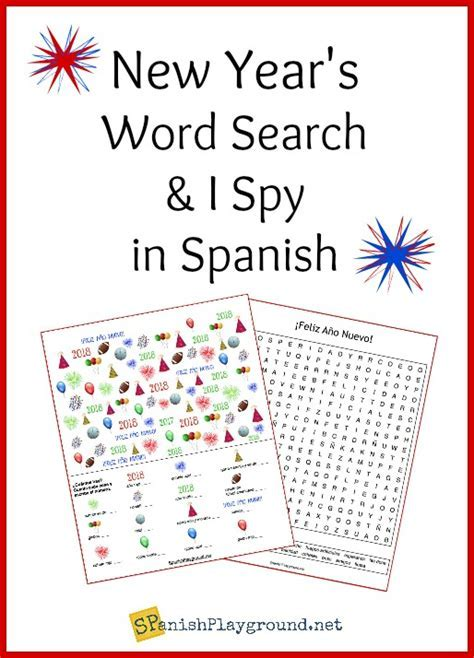 Spanish New Year Word Search and I Spy   Spanish Playground