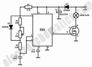 Dim Light Bulbs With 555 Ic Circuit