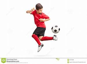 Junior Soccer Player Performing A Trick Stock Photo ...
