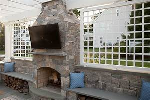Fireplace Designs With Tv Outdoor Fireplaces By Stone Age New England Silica Inc