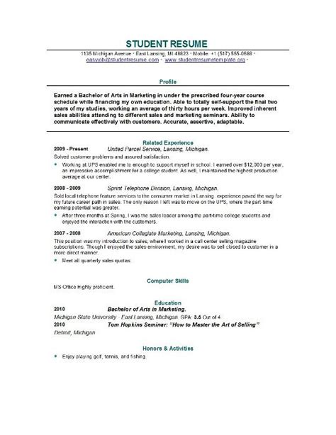 13699 sle resume format for college students essay exles for college students