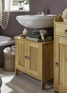 Waschbecken Und Unterschrank : waschtisch unterschrank 65x56x38cm mit 2 t ren kiefer massiv gelaugt ge lt ~ Frokenaadalensverden.com Haus und Dekorationen