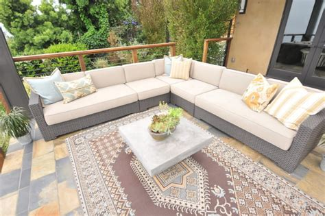 outdoor deck seating area modern patio los angeles