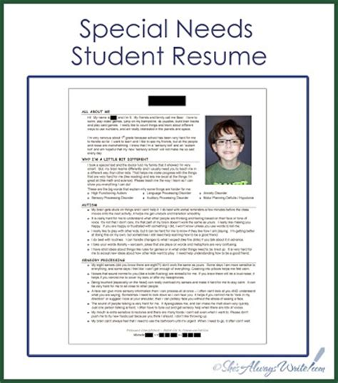 Need Help Doing A Resume by Sle Letters To Your Child S New For Apraxia