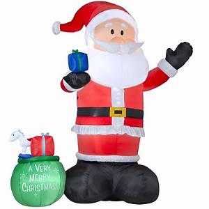 Shop Holiday Living 14-ft Inflatable Fabric Christmas