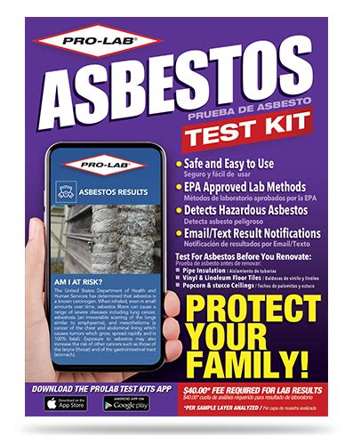 asbestos test kit pro lab