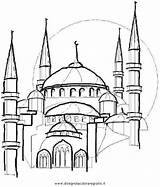 Coloring Masjid Moschea Colorare Islam Nabawi Kleurplaat Istanbul Eid Moskee Dessin Mewarnai Disegno Mosque Ramadan Hundertwasser Maan Sketch Coloriage Religione sketch template