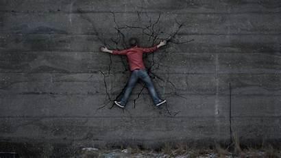 Alone Wall Wallpapers Crack Creative Graphics Wallpapertag
