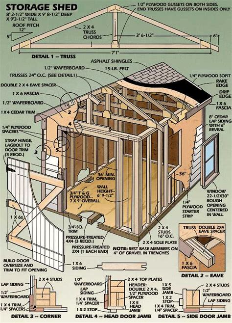 storage shed plans diy how to build diy blueprints pdf