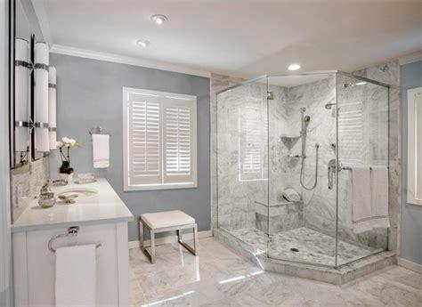 White Spa Master Bathroom  Modern Bathroom